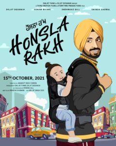"Diljit Dosanjh Is All Set To Release His First Film As A Producer "" HONSLA RAKH"" Starring Diljit, Sonam, Shehnaaz Gill , Shinda"