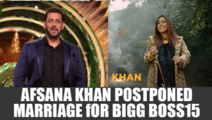 Afsana Khan Postponed her marriage as she wants to participate in Bigg Boss 15