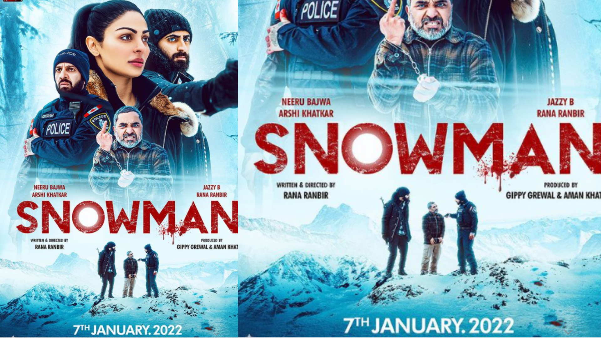 snowman movie release date 7th january2022